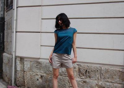 camisa-skfk-karina-azul,-pantalon-krane-tierra