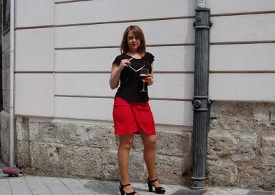falda-skfk-saone,-camiseta-eutsi-negra