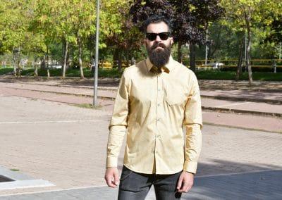camisa no excess 410702 ocre