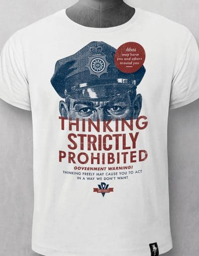 Camiseta Thinking Prohibited
