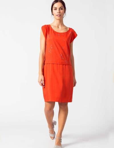 vestido nora red