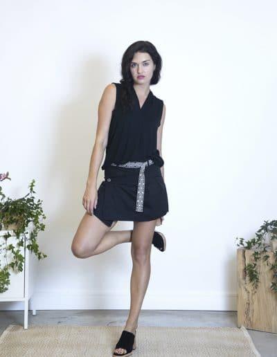 falda pantalón loki negro