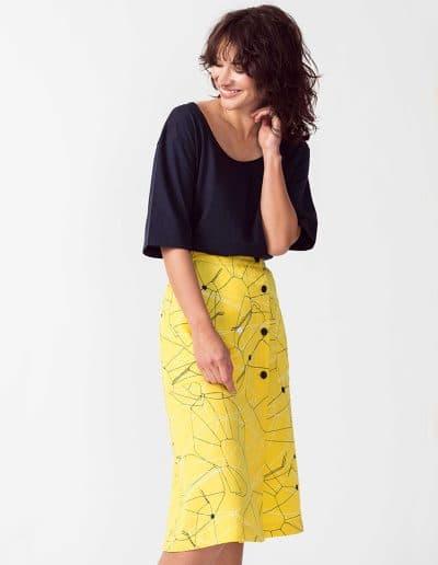 falda ximena amarillo