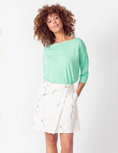 falda aintza blanco