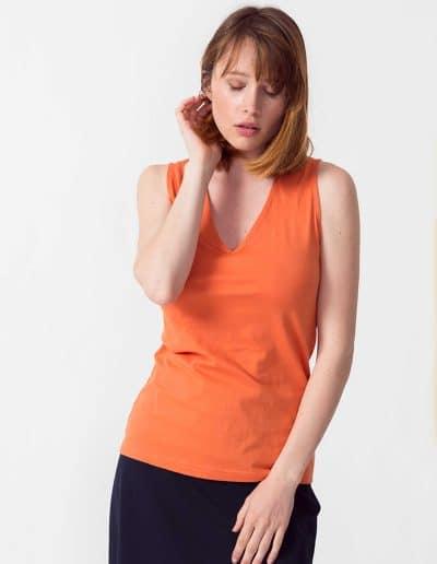 Camiseta hamabost naranja