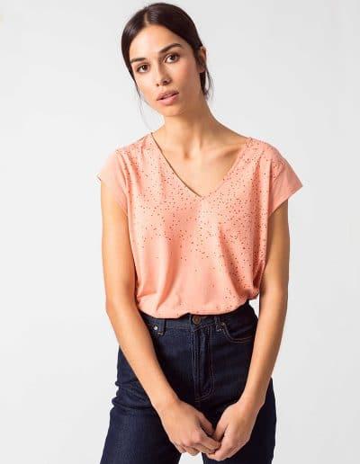 Camiseta iduia rosa